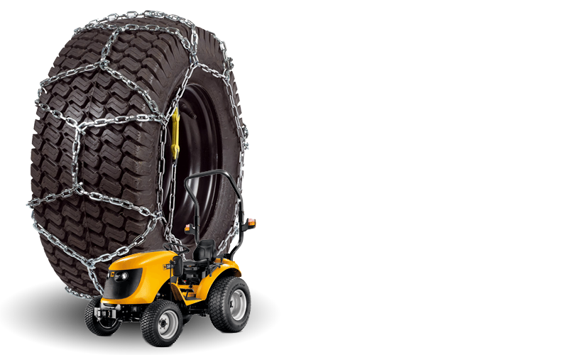 Snow Chains for Garden Vehicles